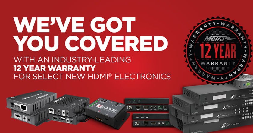 Metra Home Theater Group - We've Got You Covered with a 12 year warranty