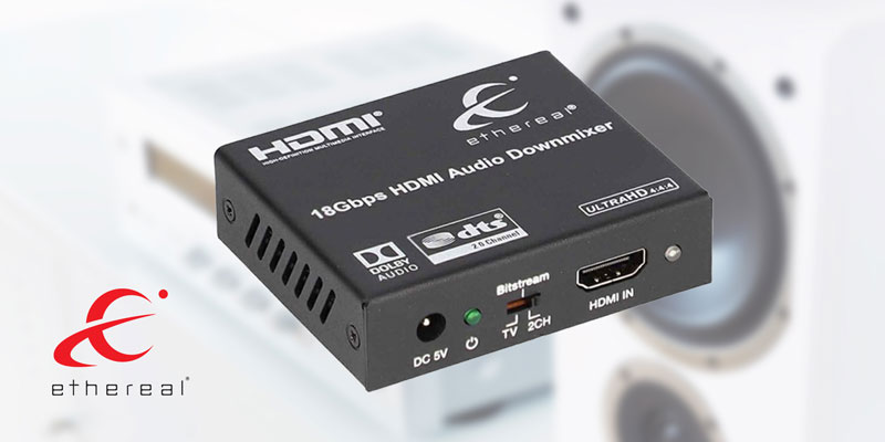NEW! 4K HDMI® Audio De-embedder w/ Down Mixing