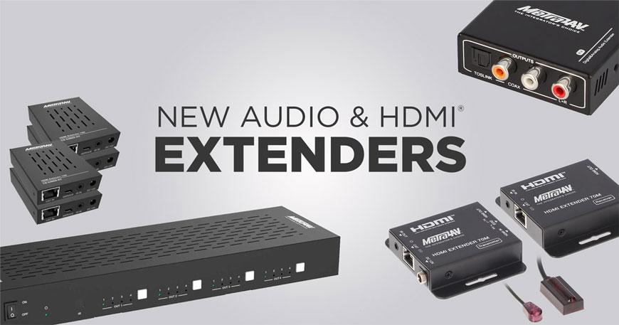 New audio & hedmi extenders