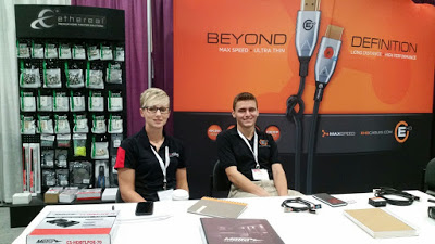 Miranda Grantham, National Sales Manager and Zak Yarnell, West Coast Regional Sales Representative, manning the booth.