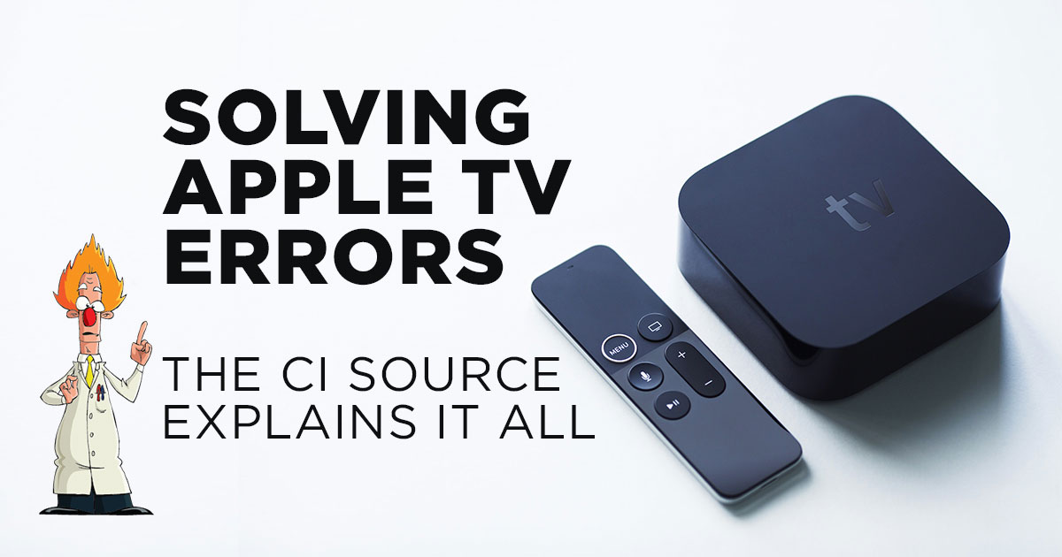 Solving Apple TV Problems